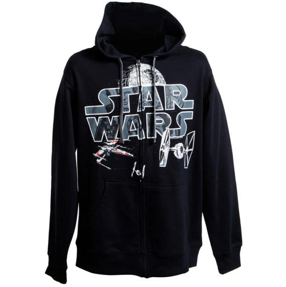 Star Wars Black Death Star Hoodie, Multiple Sizes